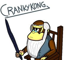 Cranky Kong From Donkey Kong Country by conkeronine