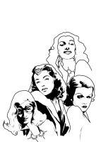 Women of Timely inks by JonathanWyke