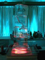Bungie Ice Sculpture. by GermanCityGirl