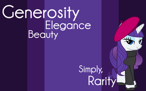 Simply, Rarity Wallpaper [1280x800] by Pathogen-David