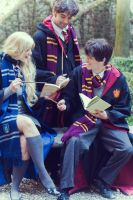 Harry, Luna and Neville by Elena-Luna
