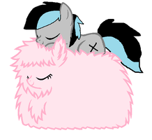 Kenny and the Fluffle Puff by cottoncloudyfilly