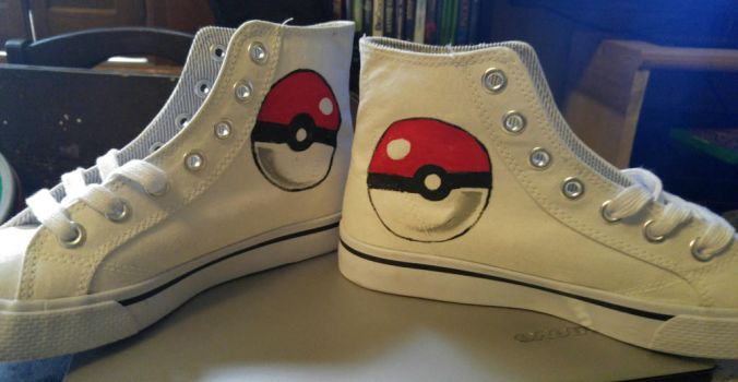 Pokeball High Tops Shoes by ManaArtCrafts