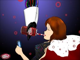 Drinking Dr. Pepper With Tech by shamira-g
