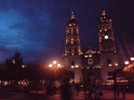 Durango Cathedral at Night by DavidTheWolf