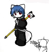 Chibi Zack with ebil stick by nyu