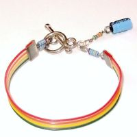 Rainbow Computer Parts Bracelet by Techcycle
