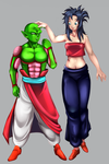 DBZ OC - Size difference by Fatenight