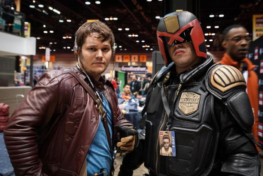 C2E2 Starlord and Dredd by SirKirkules