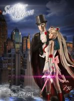 Sailor Moon Y Tuxedo Mask by Maryneim