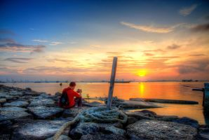 The Sunrise of Nautilus Bay, Penang by fighteden