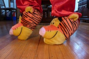 Tigger slippers, side by ExileLink