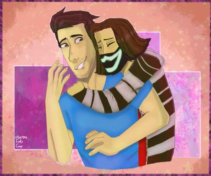 Hugs for Markiplier! (gift) by Electra-Fab-Cap