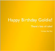 Goldie's Birthday Story! by SlateFang