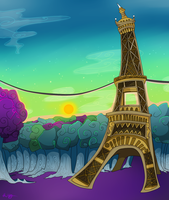 Eiffel Tower by FREAKKATT