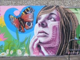 butterfly in the park by n4t4