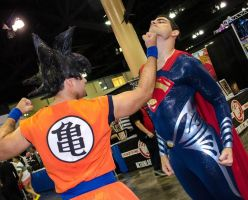 Goku vs Superman by worldcollider