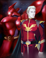 Char Aznable (UC0093) by MellorianJ