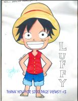 5000 views : Luffy chibi by JaZzCaSt