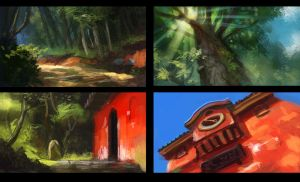 Ghibli studies by e-mendoza
