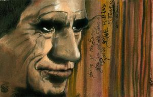Keith Richards painting by LizDouceFolie