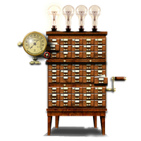 Steampunk Library Desktop Program Manager Icon by yereverluvinuncleber