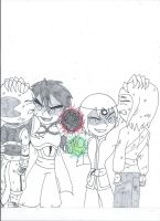 Say goodbye... (uncolored) by XSreiki772