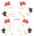 White Rooster by Daieny