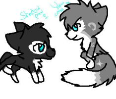 YewCross and Shadowpaw, gift by CometStre