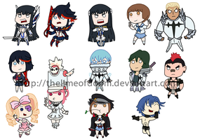 Kill la Kill chibis by thelimeofdoom
