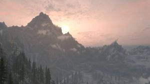 Sunset in Skyrim 2 by Marina17