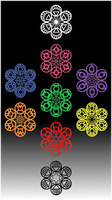 Lantern Corps Snowflakes by ChimeraDragonfang
