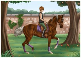 Dressage for Jammy by AliceYung