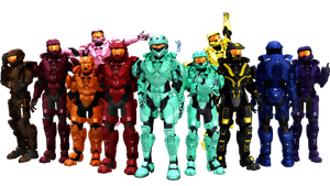 MMD Red vs Blue Teams+ [DL] by RandomDraggon