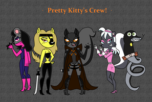 Pretty Kitty's Crew (Request) by ICartoonFantic