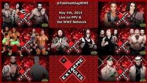 WWE Extreme Rules 2014 Match Card by Fabian-Winchester