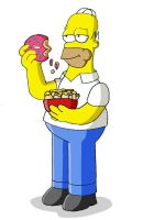 Homer J. Simpson by Dee-Artist