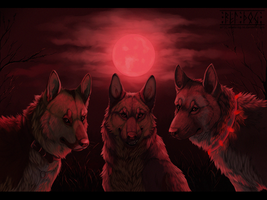 Red moon by Wandering-Rei