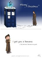 Christmas card, Doctor style by psychic-pineapple