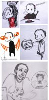 Crowley SPN sketches by Julia-Kisteneva
