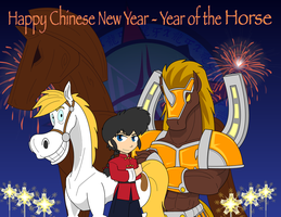 Happy Chinese New Year - Year of the Horse by Dragon-FangX
