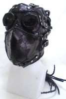Post Apocalyptic Leather Full Face Mask by OfTheGodsBlood