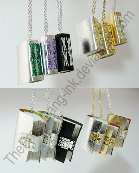 Small necklaces - a selection by ThePressGang-ink