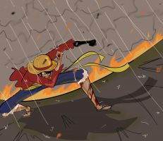 Luffy Haki contest entry by HolderofTruth