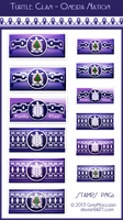 Oneida Turtle Clan Stamps  by GreyMoccasin