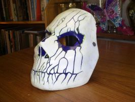 Cast mask White/purple 1 by foxdog77