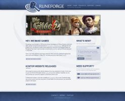 Web Design - Runeforge Games by kaffeemeister