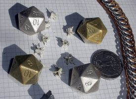 Silver cast dice by SparksMcGhee