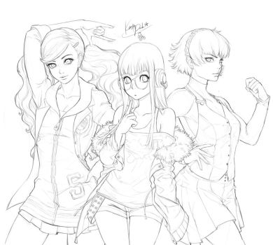 Girls Power _ Persona 5 fanart _sketch by KenshjnPark
