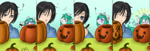 Carving the Pumpkins by SpectralPony